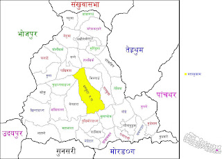 Map of dhankuta District