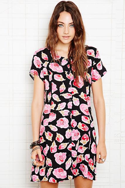 90s style print dress