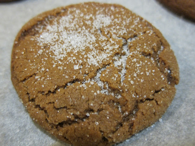 The finished cookie. Best eaten with a tall glass of ice cold milk.