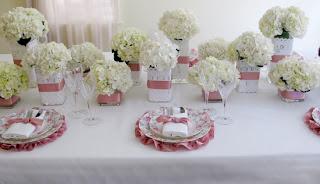 elegant spring floral tablescape Decoração Dia das Mães!