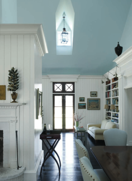 And because of the soothing environment this idea of a blue ceiling can  create, I don't think it should be limited to porch ceilings.