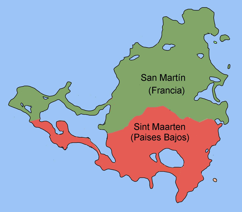 Mapa San Martín, Sint Maarten