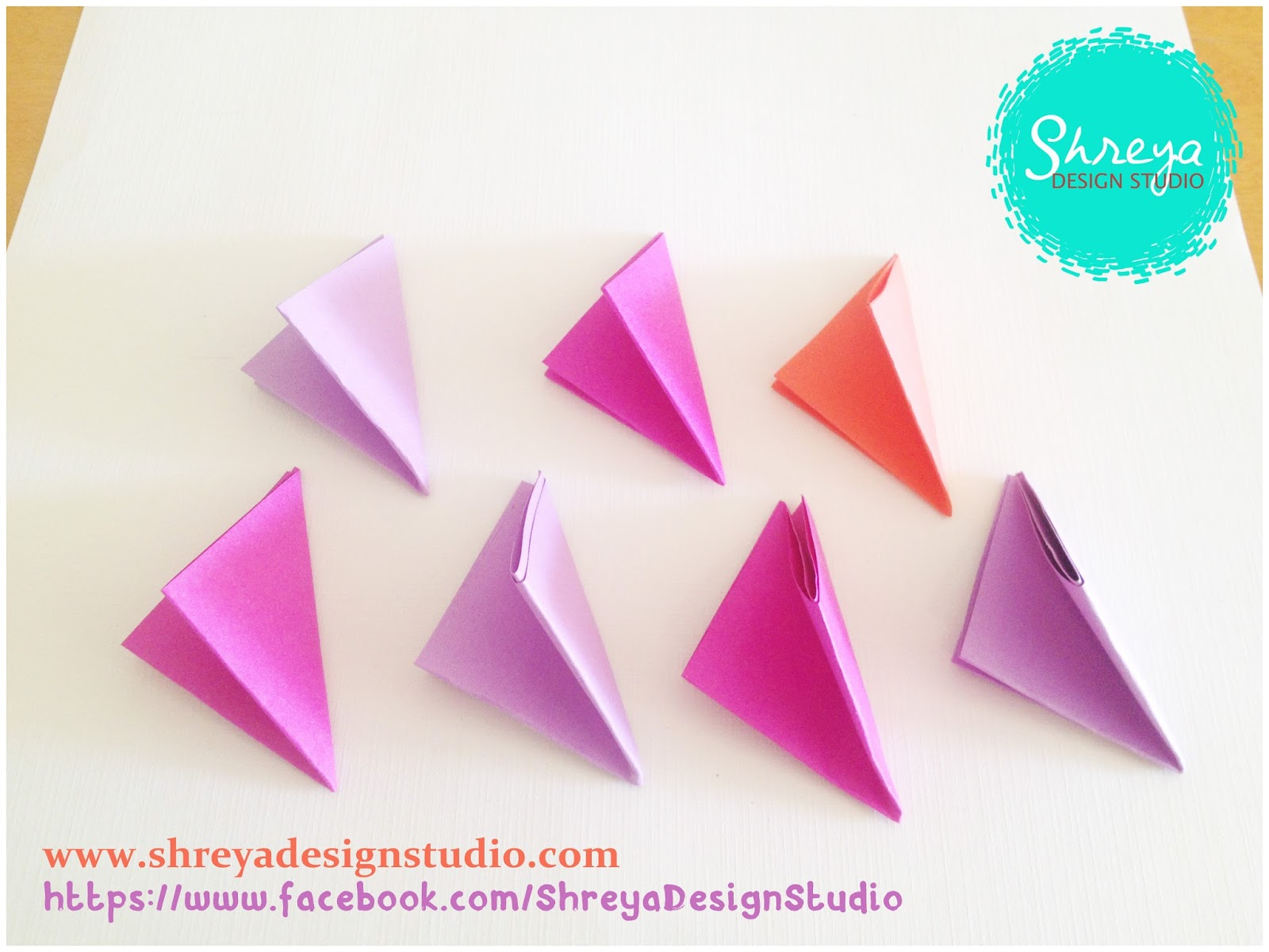 Tutorial how to make a seven flower pop up card shreya design studio make a triangular fold from the top right corner mightylinksfo