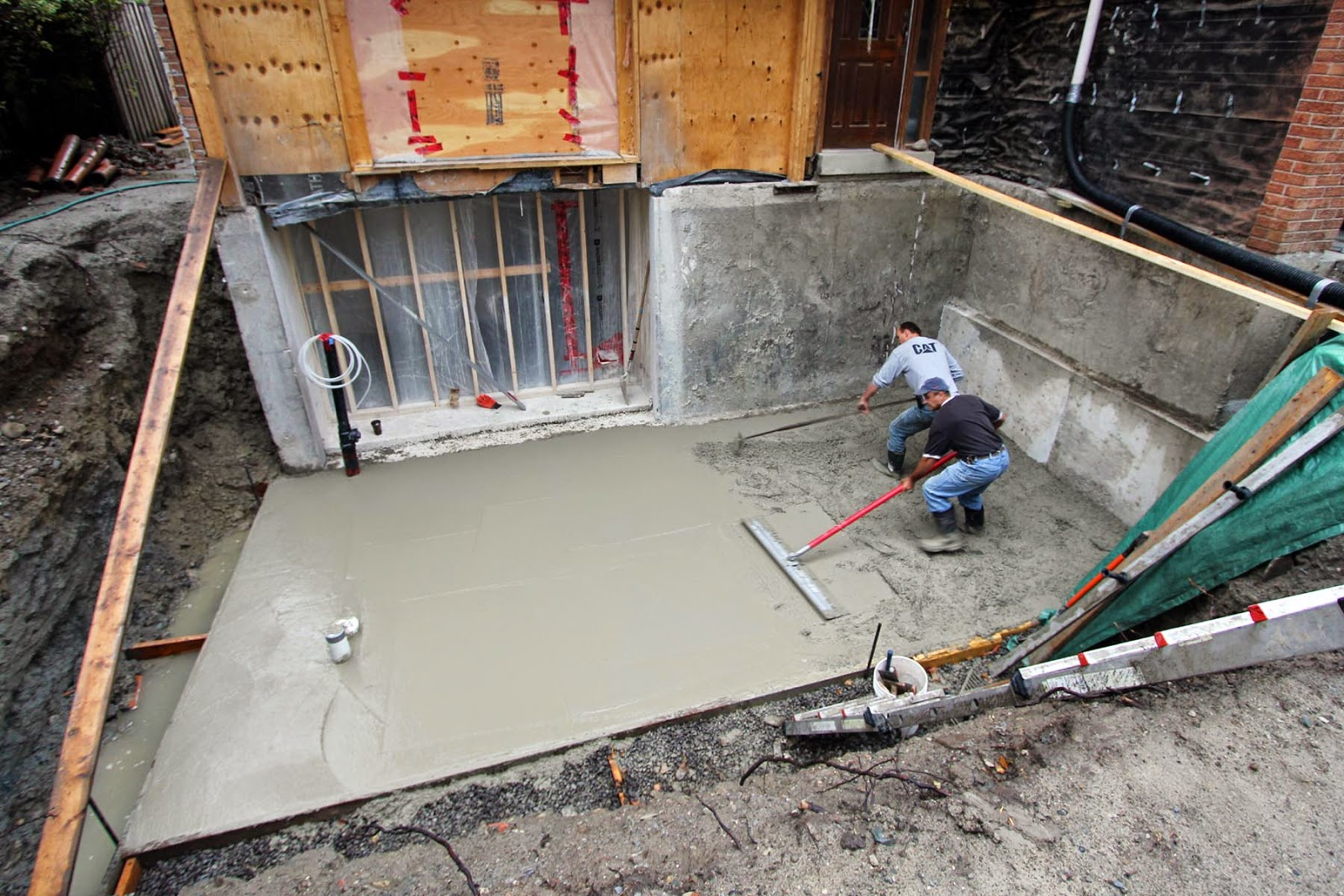 Dirt pouring concrete in existing basement pictures to pin for Pouring a basement