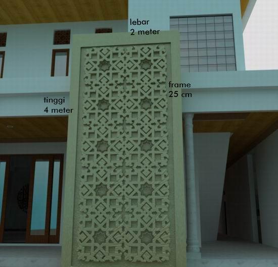 relief fasade dinding depan masjid dan desain fasade masjid dari klien ...