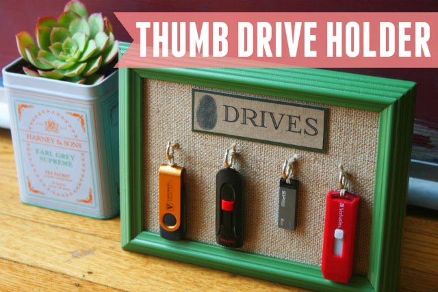 Never lose your thumb drives again with this easy thumb drive organizer!