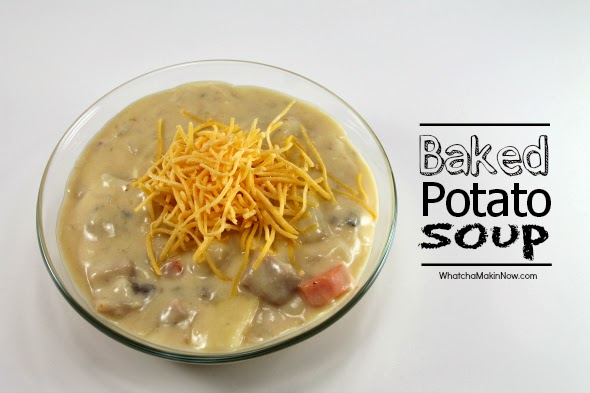 Baked Potato Soup - made in a crock pot, best flavor!