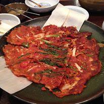 Kimchi Pajeon at Seoul Gogung Myeongdong