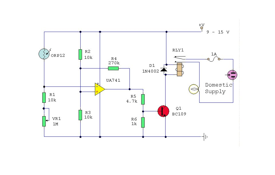 Electronics Circuit Application : Dark Activated Switch Circuits
