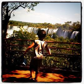 en las Cataratas del Iguazú