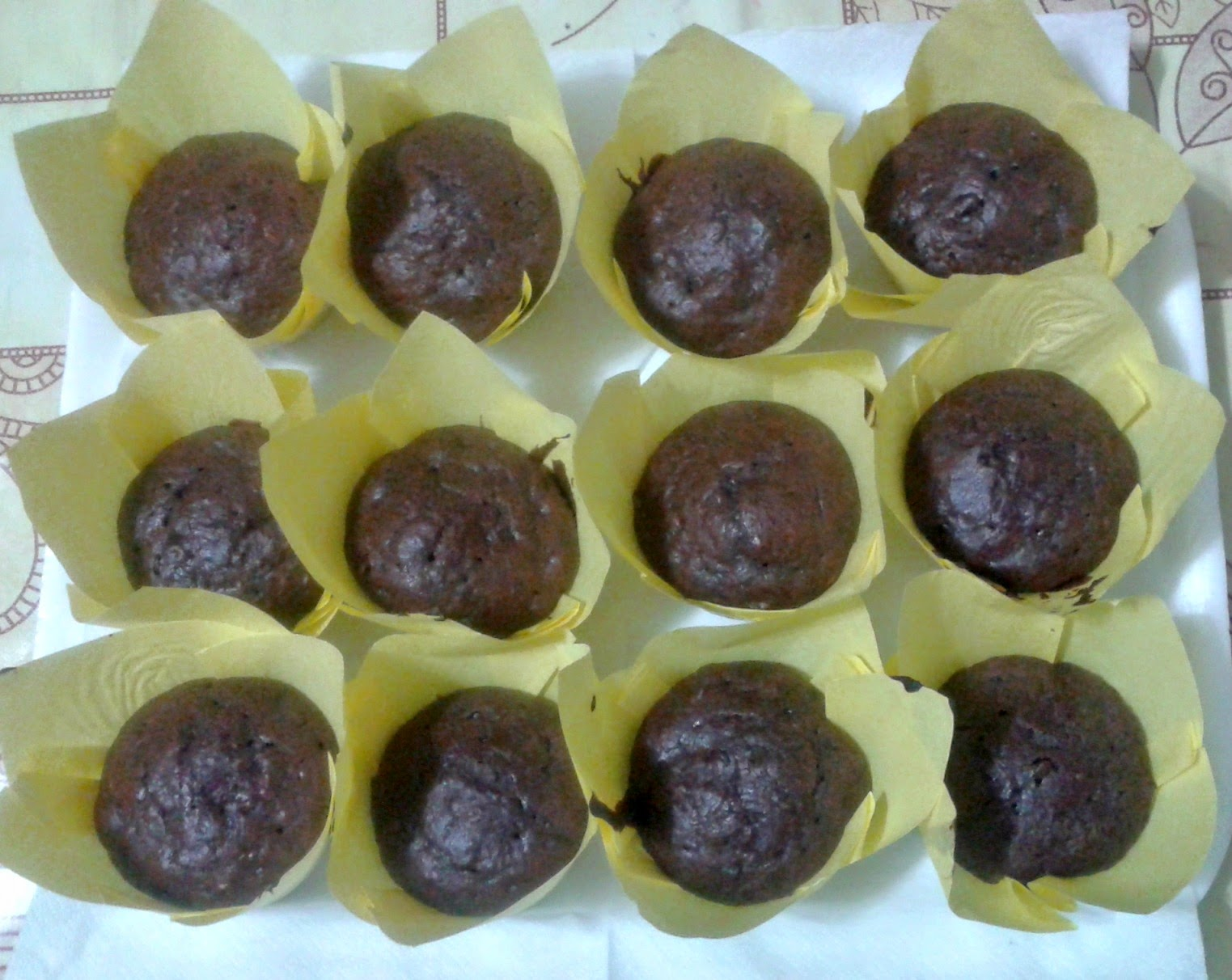 chocolate banana muffin per gli angeli del fango