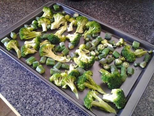 roasted broccoli okra recipe