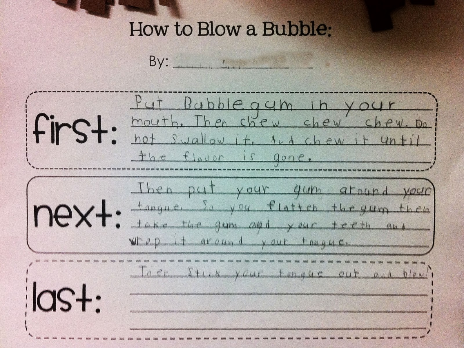 the teacher wife: bubble gum FUN! (writing and math)