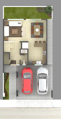 plano residencial planta baja, planos de casas, planta baja