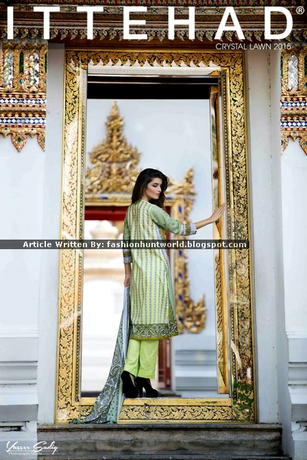 Ittehad Crystal Lawn 2015 Look Book