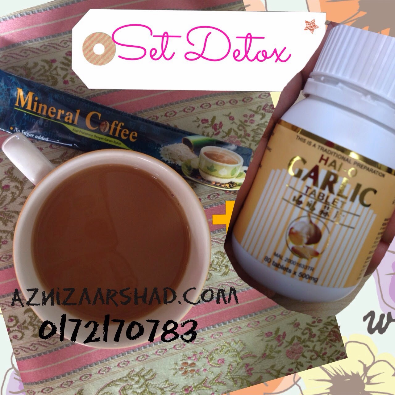 Set detox, Set mineral coffee dan garlic, HaiO garlic, mineral coffee, set kurus bajet