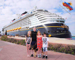Group before boarding the enormous cruise ship