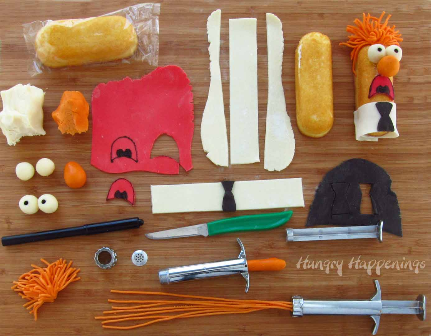 How to turn a Twinkie into Beaker - Muppets Themed Party