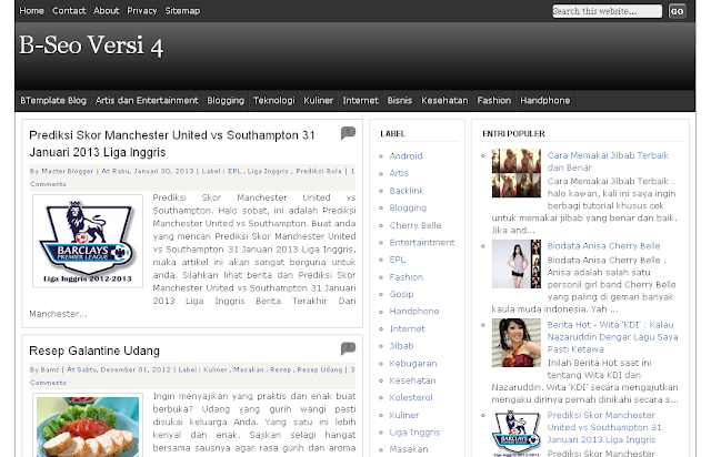 Template Blogspot SEO Friendly Terbaru, Template Blogger Terbaru, B-seo Versi 4