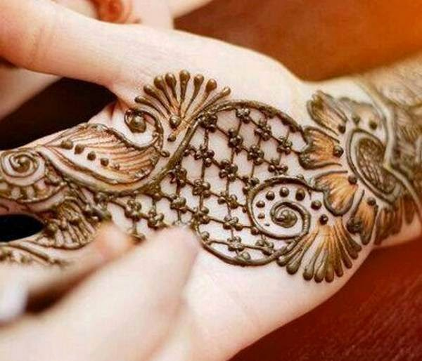 Latest Henna Mehndi Design : New mehndi design for girls eid collection fashion