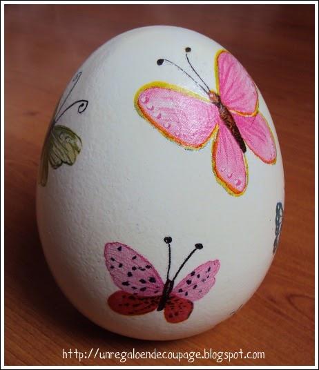 Un regalo en decoupage huevo y horma de zapato de for Bizcochos de ceramica