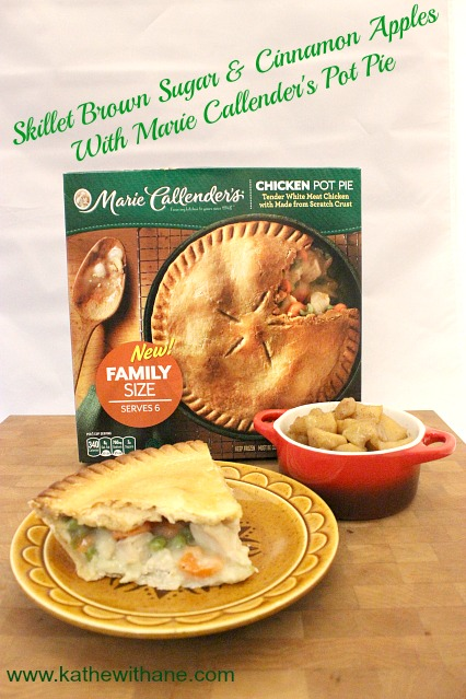 Skillet Brown Sugar & Cinnamon Apples With Marie Callender's Pot Pie