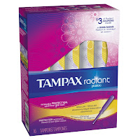 tampax radiant unscented tampons sale