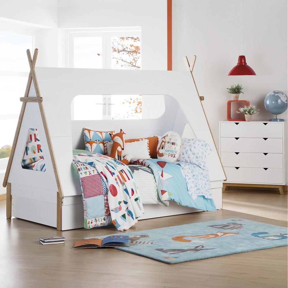 Cama para ninos infantil casita como hacer una tienda de - Como hacer una cama infantil ...