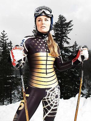 Mujer esquiadora: Cuida tus rodillas