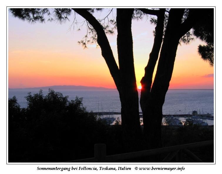 Sonnenuntergang bei Follonica