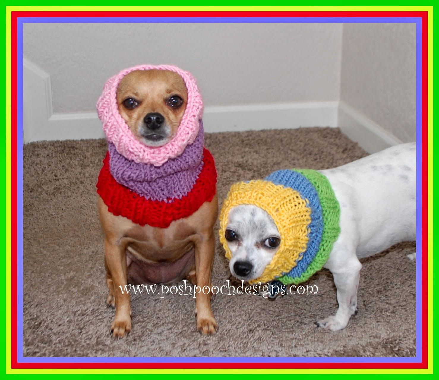 Posh Pooch Designs Dog Clothes: Colors Dog Snood Free Knitting Pattern Posh...