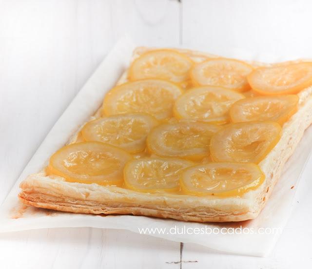 Tarta rústica de limón