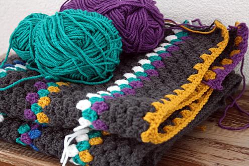 Granny stripe blanket WIP
