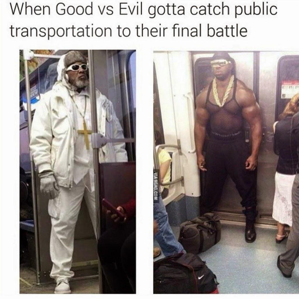 Cuando el bien y el mal toman el transporte público...