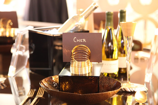 Cher's place setting at Dining by Design NYC