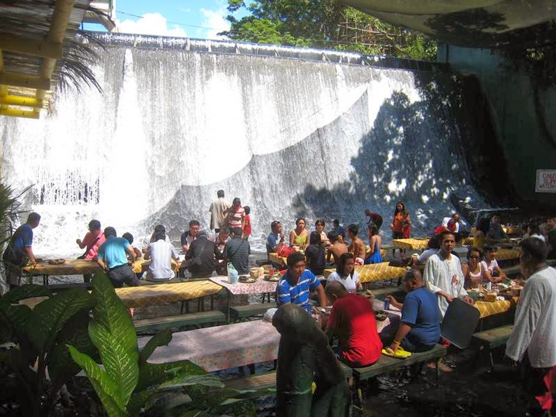 Waterfall Restaurant Villa Escudero, Philippines
