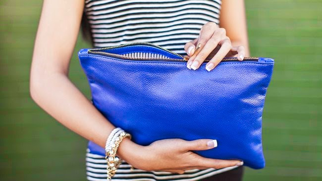 Popbasic-Paloma-Clutch cobalt - Hello, Handbag