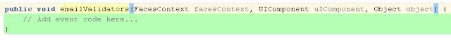 This validator method validates value of inputText