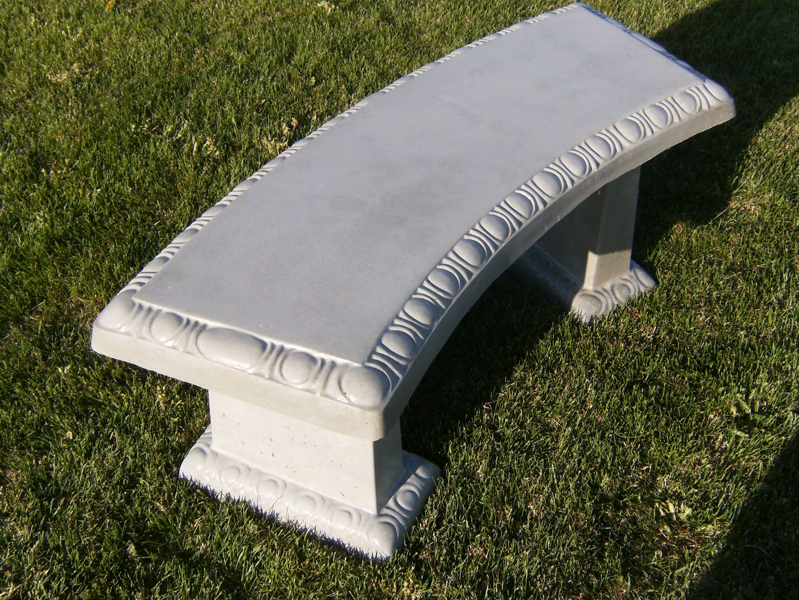 Concrete yard decor benches Yard bench