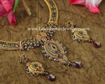 Enamel Coloured Antique Necklace