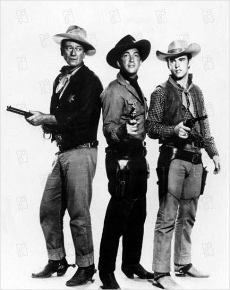 John Wayne, Dean Martin y Ricky Nelson en Rio Bravo