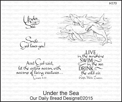 Our Daily Bread Designs Stamp set: Under the Sea