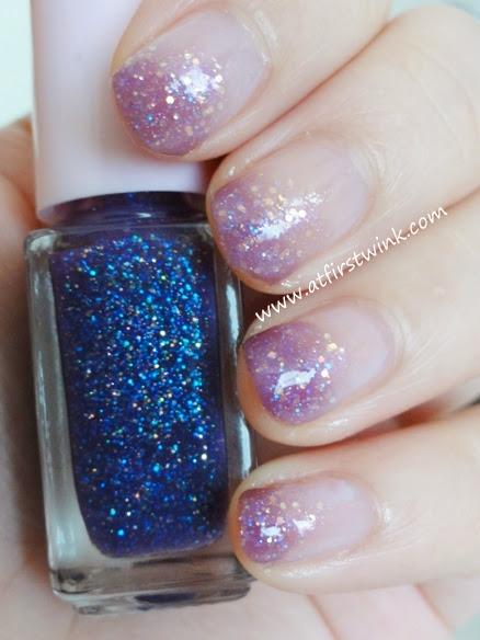 Etude House Juicy Cocktail gradation nails set #3 Love Violet step 3