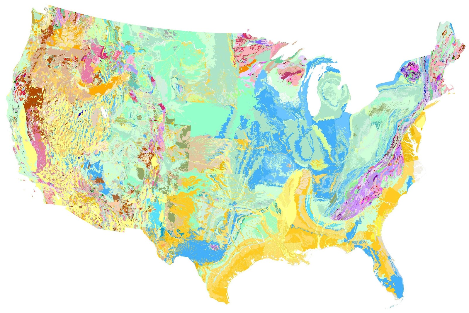 Geologic Map Of The United States Geologic Maps And Natural
