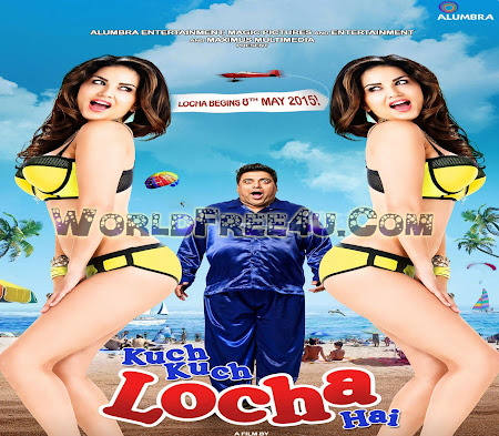 Poster Of Bollywood Movie Kuch Kuch Locha Hai (2015) 300MB Compressed Small Size Pc Movie Free Download worldfree4u.com