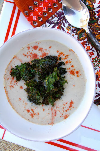 Cauliflower Soup with Crispy Kale | www.kettlercuisine.com