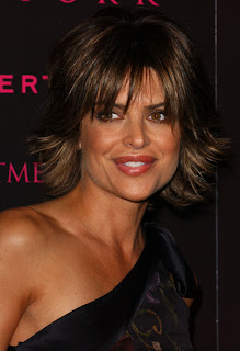 Lisa Rinna Layered Razor Cut Hairstyle with Highlights