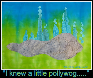 "photo of: ""Pollywog"" Illustration for Digital Download Lesson Support by Debbie Clement"