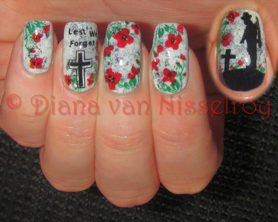 D.I.A.N.A.: *Lest We Forget* ANZAC Remembrance Day nails