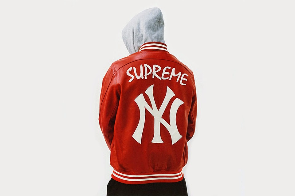 chaqueta-supreme-new-york-yankees-roja
